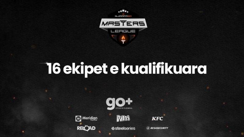 16 ekipet që janë kualifikuar në Gjirafa50 Masters League